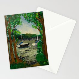 Lake Landscape Stationery Cards