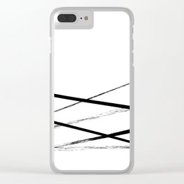 Line Art Clear iPhone Case
