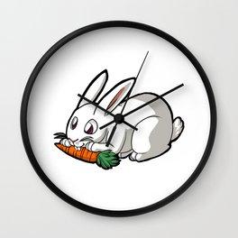 Omnomnom Carrot Bunny Wall Clock