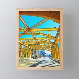 Tower Bridge (Sacramento, CA, USA) Framed Mini Art Print
