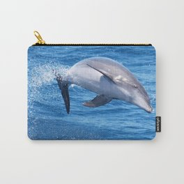 Wild bottlenose dolphin jumping off the Canary Islands Carry-All Pouch