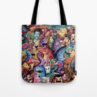 community Tote Bags featuring Colourful Community by Salih Gonenli