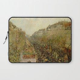 "Camille Pissarro ""Boulevard Montmartre - Mardi Gras"" Laptop Sleeve"