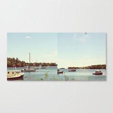Boats and Buoys  Canvas Print