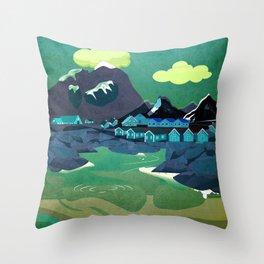Norway 6 Throw Pillow