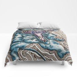 Fat Blue Cat Comforters