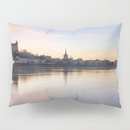 Saumur and the Loire river at sunset Pillow Sham