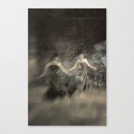 Dance in smoke Canvas Print