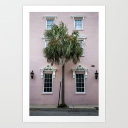 Palm Tree in Pink Art Print