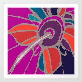 Spring collection - orange&orchid - flower Art Print