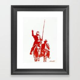 Don Quijote and Sancho Panza Framed Art Print