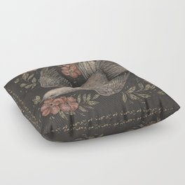 Dove and Flowers Floor Pillow