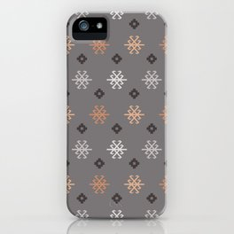 Boho Baby // Middle Eastern Metallic // Scorpion Symbol + Geometric Floral in Charcoal iPhone Case