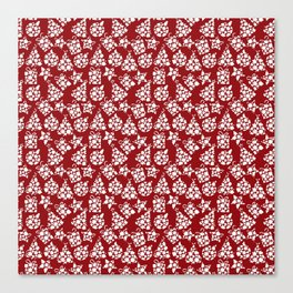 Snowy Christmas pattern Canvas Print