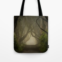 Mysterious alley at dawn Tote Bag