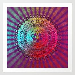 Mandala Flower Wheel Art Print