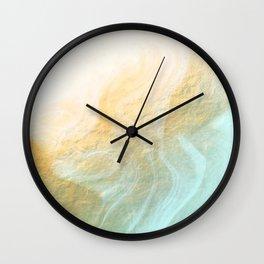 Marble melt - gold Wall Clock