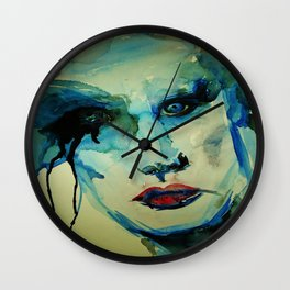 Rock Star Makeup Malfunction Wall Clock