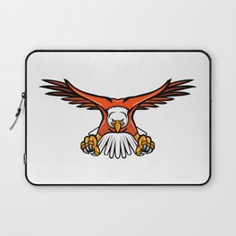 Bald Eagle Swooping Front Mascot Laptop Sleeve