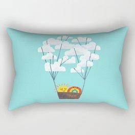Hot cloud balloon - sun and rainbow Rectangular Pillow