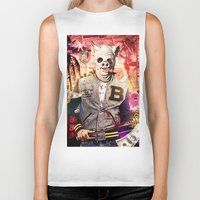 hotline miami Biker Tanks featuring Night Out: Hotline Miami by GiancarloVargas