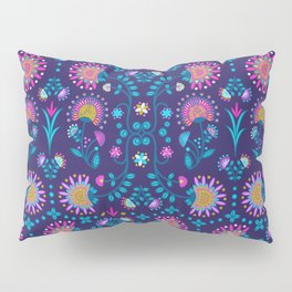 Folkloric In Blue Pillow Sham