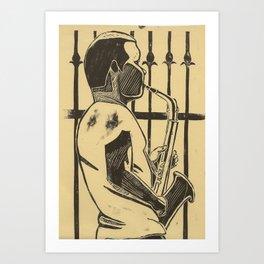 Saxophonist Art Print