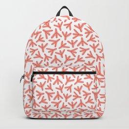 Chicken Feet - Geometric Pattern (Orange) Backpack
