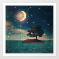A Quiet Place for Two Art Print