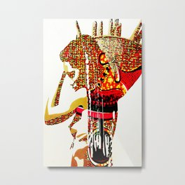 african woman with basket 4 Metal Print