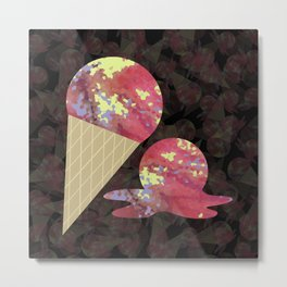 Three Second Rule; Save the Ice Cream Metal Print
