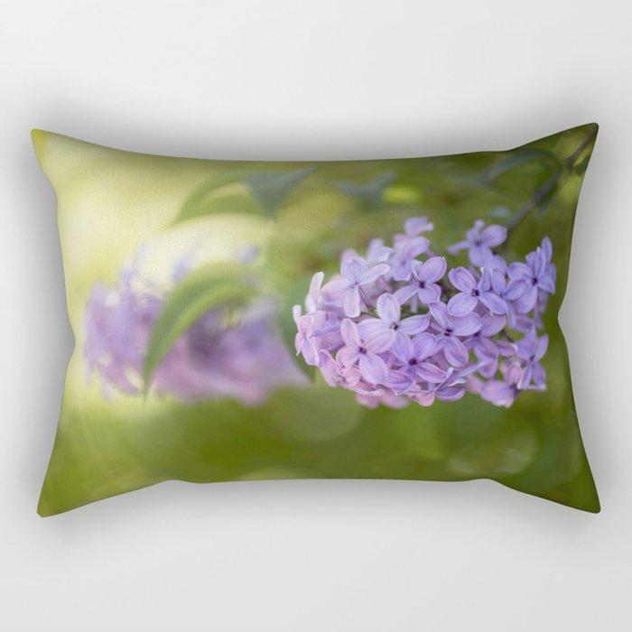 Lilac syringa in LOVE - Spring Tree Flower photography Rectangular Pillow