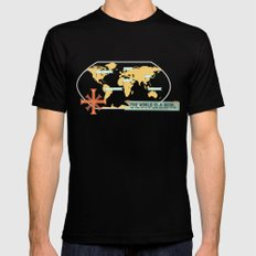 The World is a Book Mens Fitted Tee MEDIUM Black