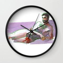 JOHN, Nude Male by Frank-Joseph Wall Clock