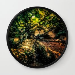 The roots of the jungle Wall Clock