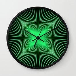 The Emerald Illusion Wall Clock