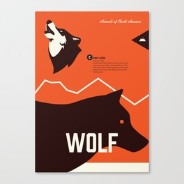 Wildlife of North America: Wolf Canvas Print