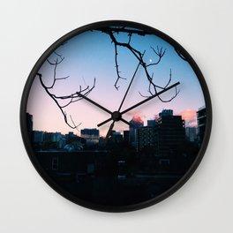 Skyline Sunset Wall Clock