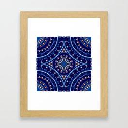 Blue Fire Keepers Framed Art Print