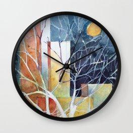Le torri e la luna Wall Clock