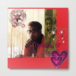 Sammy Davis Jr. - We Are Thinking of You - Razzling Red Metal Print