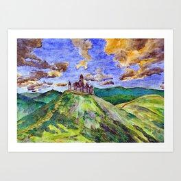 North Downs Art Print