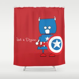 Robots in Disguises Shower Curtain