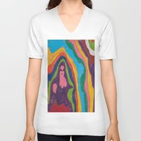 """pastel goth V-neck T-shirts featuring """"Alien Goth"""" (7211) by DelusionalDiva"""