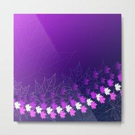Purple and pink autumn Metal Print