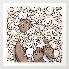 Cloud Beard Man Art Print