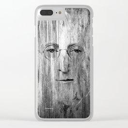 Jhon Lenon Clear iPhone Case