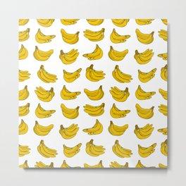 Banana pattern Metal Print
