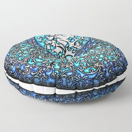 Blue Fire (2) Floor Pillow