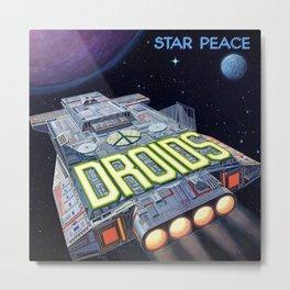 Droids - Star Peace Metal Print